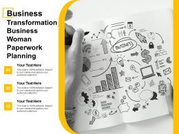 Business Transformation Business Woman Paperwork Planning