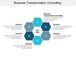 Business Transformation Consulting Ppt Powerpoint Presentation Show Aids Cpb