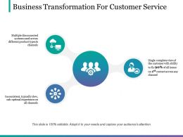 Business Transformation For Customer Service Ppt Sample Presentations