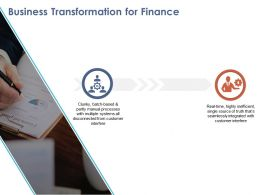 Business Transformation For Finance Ppt Designs Download