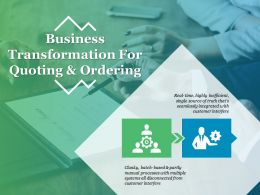 Business Transformation For Quoting And Ordering Ppt Sample