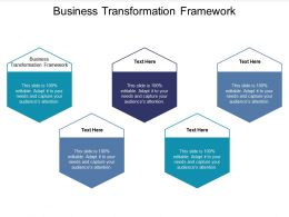 Business Transformation Framework Ppt Powerpoint Presentation Infographic Template Cpb