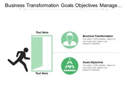Business Transformation Goals Objectives Manage Create Capability Increment