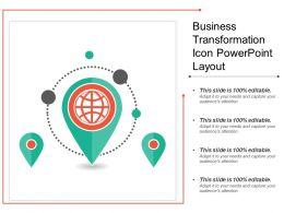 Business Transformation Icon Powerpoint Layout