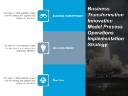 Business Transformation Innovation Model Process Operations Implementation Strategy Cpb