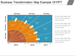 Business Transformation Map Example Of Ppt