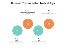 Business Transformation Methodology Ppt Powerpoint Presentation Infographics Professional Cpb