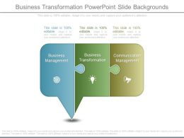 Business Transformation Powerpoint Slide Backgrounds