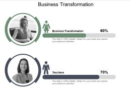 Business Transformation Ppt Powerpoint Presentation Model Vector Cpb