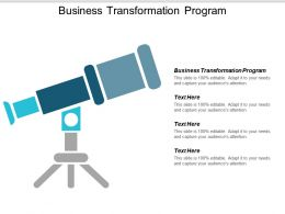 Business Transformation Program Ppt Powerpoint Presentation Ideas Pictures Cpb