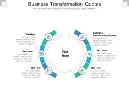 Business Transformation Quotes Ppt Powerpoint Presentation Professional Mockup Cpb