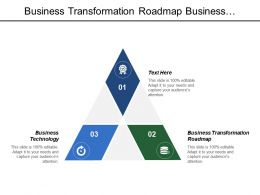 Business Transformation Roadmap Business Technology Application Assets Valuation