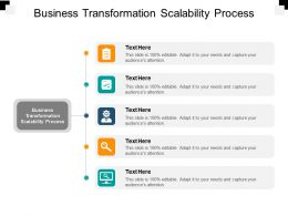 Business Transformation Scalability Process Ppt Powerpoint Presentation Pictures Cpb