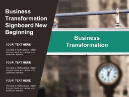 Business Transformation Signboard New Beginning