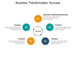Business Transformation Success Ppt Powerpoint Presentation Pictures Model Cpb