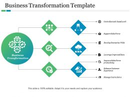 Business Transformation Template Centralize Task Based Work Ppt Model