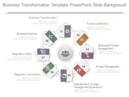 Business Transformation Template Powerpoint Slide Background