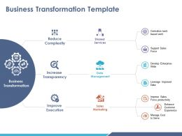 Business Transformation Template Ppt Visual Aids Summary