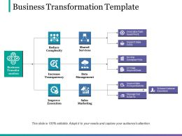 Business Transformation Template Presentation Visuals