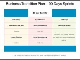 Business Transition Plan 90 Days Sprints