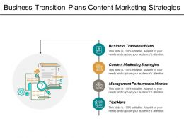 Business Transition Plans Content Marketing Strategies Management Performance Metrics Cpb
