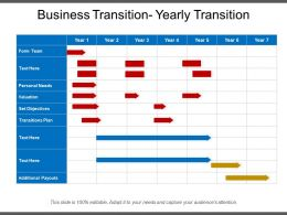 Business Transition Yearly Transition