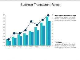 Business Transparent Rates Ppt Powerpoint Presentation Pictures Graphic Tips Cpb