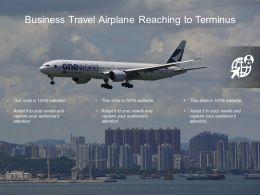 Business Travel Airplane Reaching To Terminus