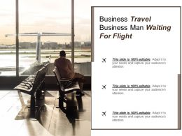 Business Travel Business Man Waiting For Flight