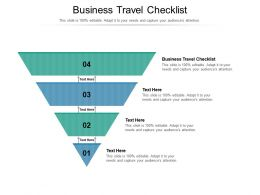Business Travel Checklist Ppt Powerpoint Presentation File Graphics Design Cpb