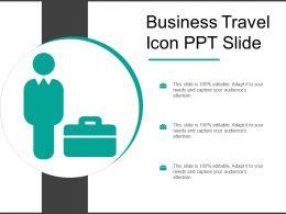 Business Travel Icon Ppt Slide