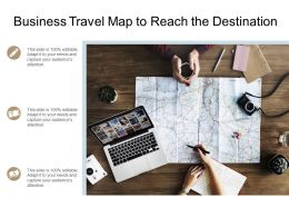 Business Travel Map To Reach The Destination