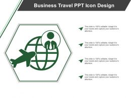 Business Travel Ppt Icon Design