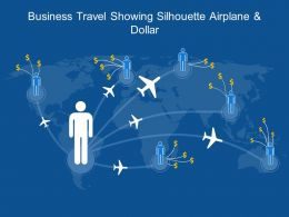 Business Travel Showing Silhouette Airplane And Dollar