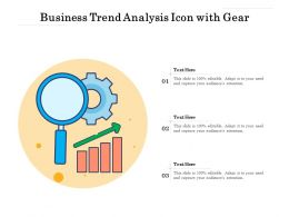 Business Trend Analysis Icon With Gear