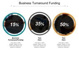 Business Turnaround Funding Ppt Powerpoint Presentation Gallery Information Cpb