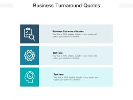 Business Turnaround Quotes Ppt Powerpoint Presentation Infographics Example Introduction Cpb