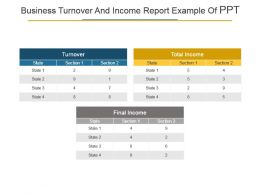 Business Turnover And Income Report Example Of Ppt