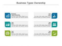 Business Types Ownership Ppt Powerpoint Presentation Gallery Model Cpb