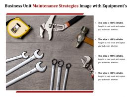Business Unit Maintenance Strategies Image With Equipments