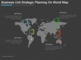 Business Unit Strategic Planning On World Map Powerpoint Slide Images
