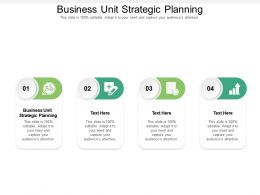 Business Unit Strategic Planning Ppt Powerpoint Presentation Summary Infographics Cpb