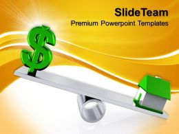 Business Unit Strategy Powerpoint Templates Dollar Sign With Real Estate Sale Ppt Theme