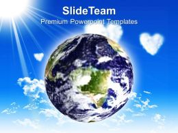 Business Unit Strategy Powerpoint Templates Earth Environment Nature Global Ppt Process