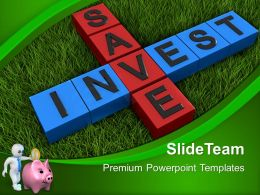 Business Unit Strategy Powerpoint Templates Save And Invest Finance Process Ppt