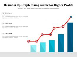 Business Up Graph Rising Arrow For Higher Profits