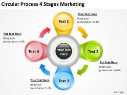 Business Use Case Diagram Circular Process 4 Stages Marketing Powerpoint Slides 0515