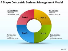 Business Use Case Diagram Example 4 Stages Concentric Management Model Powerpoint Slides