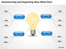 Business Use Case Diagram Example And Organizing Ideas Mind Chart Powerpoint Templates