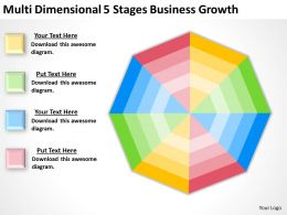 Business Use Case Diagram Multi Dimensional 5 Stages Growth Powerpoint Slides 0522